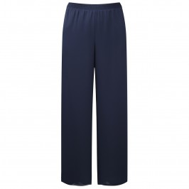 KIRSTEN KROG navy chiffon palazzo TROUSERS - Plus Size Collection