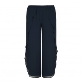 BEIGE label NAVY CHIFFON TROUSERS - Plus Size Collection
