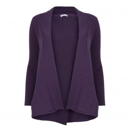 PER TE BY KRIZIA VIOLET WOOL AND CASHMERE CARDIGAN - Plus Size Collection