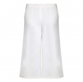 KRIZIA white punto jersey CULOTTES - Plus Size Collection