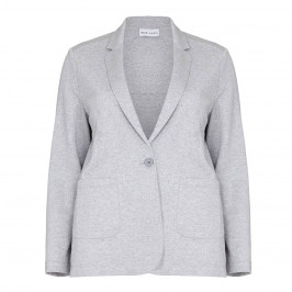 PER TE BY KRIZIA silver lurex punto jersey blazer - Plus Size Collection