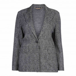 PER TE BY KRIZIA HERRINGBONE BLAZER - Plus Size Collection