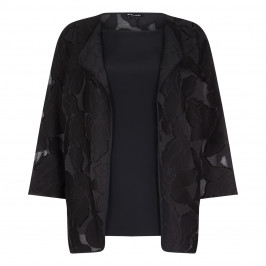 Krizia Black Twin-Set Jacket With Top  - Plus Size Collection