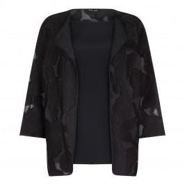Krizia Black Twin-Set Jacket With Top  - Plus Size Collection