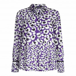 PER TE BY KRIZIA FLORAL PRINT SHIRT - Plus Size Collection