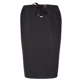PER TE BY KRIZIA PINSTRIPE BLACK SKIRT - Plus Size Collection