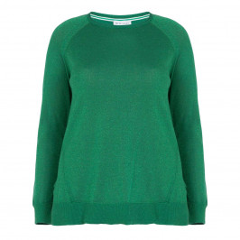 PER TE BY KRIZIA GREEN LUREX SWEATER - Plus Size Collection