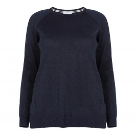 PER TE BY KRIZIA NAVY LUREX SWEATER - Plus Size Collection