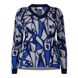 PER TE BY KRIZIA PURE WOOL PRINT SWEATER