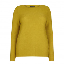 PER TE BY KRIZIA PURE WOOL SOFT KNITTED MUSTARD SWEATER  - Plus Size Collection