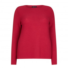 KRIZIA SOFT KNITTED SWEATER IN RED - Plus Size Collection