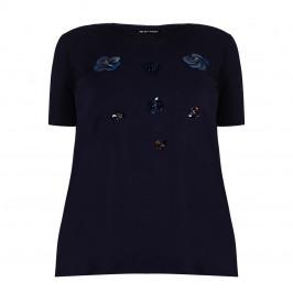 KRIZIA navy embellished T-SHIRT - Plus Size Collection