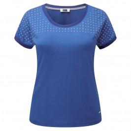 KRIZIA royal blue T-SHIRT with studded yoke - Plus Size Collection