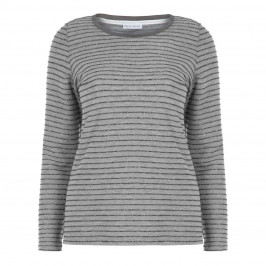 PER TE BY KRIZIA GREY SWEATER SILVER STRIPE - Plus Size Collection
