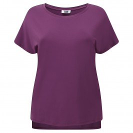 KRIZIA magenta jersey TOP - Plus Size Collection