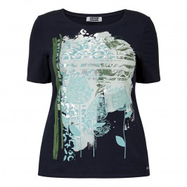 KRIZIA TOP with abstract floral motif - Plus Size Collection