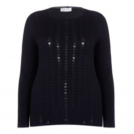 KRIZIA black SWEATER with large sequins - Plus Size Collection