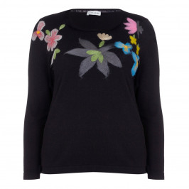KRIZIA black embroidered SWEATER - Plus Size Collection