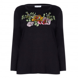 KRIZIA black folklore embroidery TOP - Plus Size Collection
