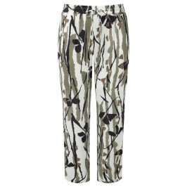 KRIZIA bamboo print TROUSERS - Plus Size Collection