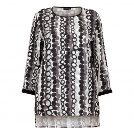 KRIZIA crepe circle print Tunic - Plus Size Collection