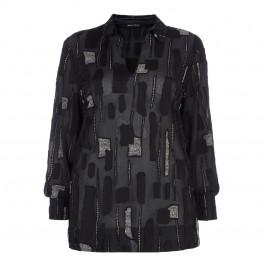 PER TE BY KRIZIA SHEER BLACK SHIRT - Plus Size Collection