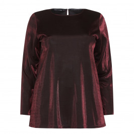 Krizia Metallic Jersey Red Tunic - Plus Size Collection