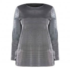 PER TE BY KRIZIA Metallic Silver Jersey Tunic - Plus Size Collection