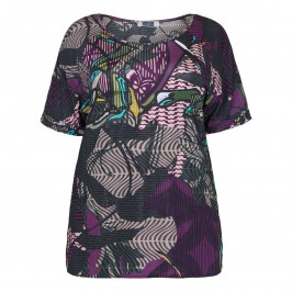 KRIZIA print jersey TUNIC - Plus Size Collection