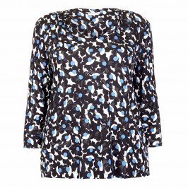 PER TE BY KRIZIA NAVY ABSTRACT FLORAL PRINT TUNIC  - Plus Size Collection