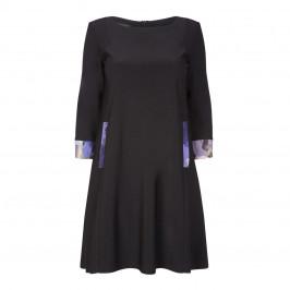 Georgedé dress with floral trim black - Plus Size Collection