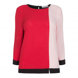 GAIA RED AND PINK TOP - Plus Size Collection