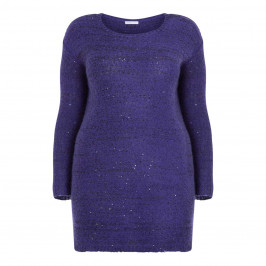 LUISA VIOLA KNITTED SEQUIN TUNIC BLUETTE - Plus Size Collection