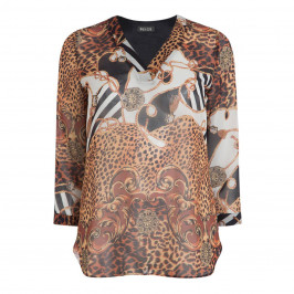 BEIGE LABEL BAROQUE PRINT TUNIC - Plus Size Collection