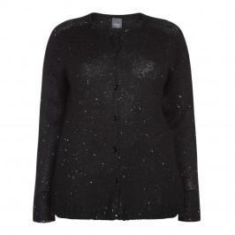 PERSONA BY MARINA RINALDI SEQUIN CARDIGAN BLACK - Plus Size Collection