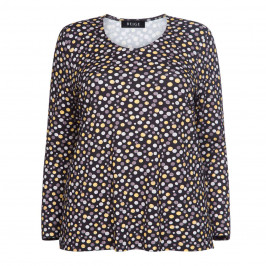 BEIGE LABEL DOT PRINT STRETCH JERSEY TOP - Plus Size Collection