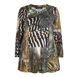 BEIGE LABEL ANIMAL PRINT STRETCH JERSEY TUNIC - Plus Size Collection