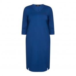 BEIGE LABEL PUNTO MILANO DRESS COBALT - Plus Size Collection