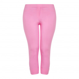 BEIGE LABEL TECHNOSTRETCH TROUSER TURN UP PINK - Plus Size Collection