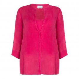 MARINA RINALDI RAMIE SHIRT FUCHSIA - Plus Size Collection