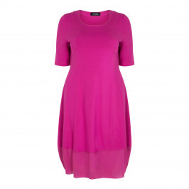 BEIGE LABEL FUCHSIA PRINCESS CUT JERSEY DRESS - Plus Size Collection