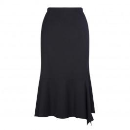 BEIGE LABEL BIAS CUT SKIRT BLACK  - Plus Size Collection