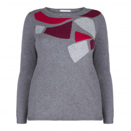 LUISA VIOLA ABSTRACT PRINT SWEATER - Plus Size Collection