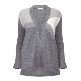 LUISA VIOLA GREY KNITTED CARDIGAN - Plus Size Collection