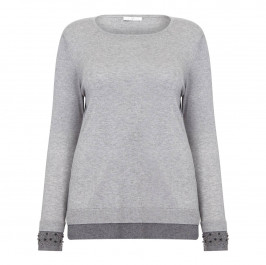 LUISA VIOLA EMBELLISHED CUFF SWEATER - Plus Size Collection