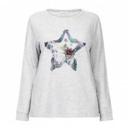 BEIGE LABEL STAR PRINT TOP - Plus Size Collection
