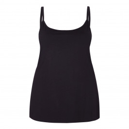 LUISA VIOLA BLACK STRETCH JERSEY CAMISOLE - Plus Size Collection
