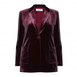 LUISA VIOLA VELVET BLAZER BURGUNDY - Plus Size Collection