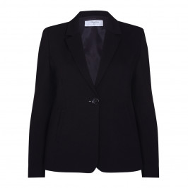 LUISA VIOLA REVERE COLLAR SINGLE BREASTED BLAZER BLACK - Plus Size Collection