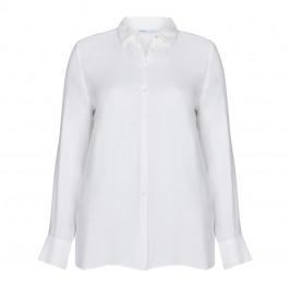 LUISA VIOLA DIAMANTE BUTTON SHIRT WHITE - Plus Size Collection